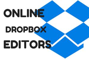 free online Dropbox editors to edit Dropbox files