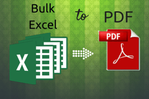 free software to bulk convert Excel to PDF