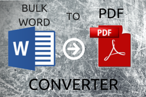 free software to bulk convert Word to PDF
