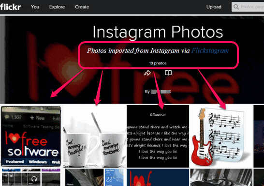 import photos from Instagram to Flickr