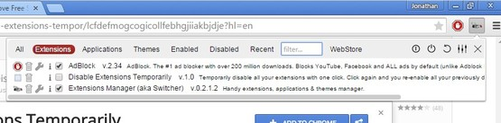 quick extension disablers chrome 2