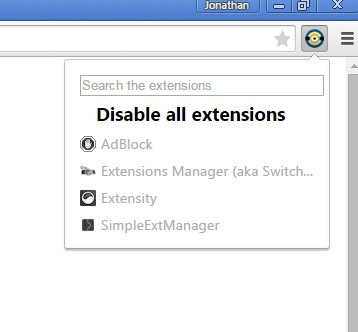 quick extension disablers chrome 4