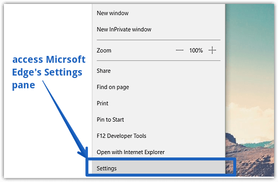 reading view settings access