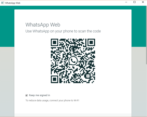 scan QR code using WhatsApp on your phone