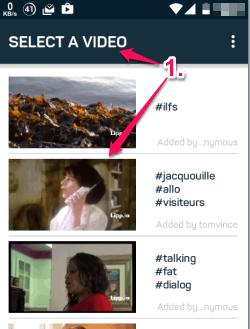 select a video