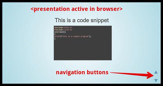 slides presentation in browser