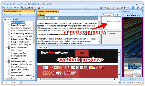 vole word reviewer media added