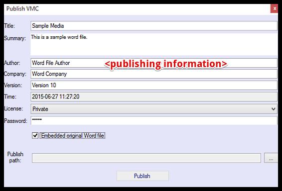 vole word reviewer publish information