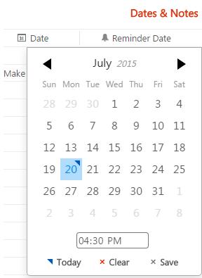 Adding Reminders