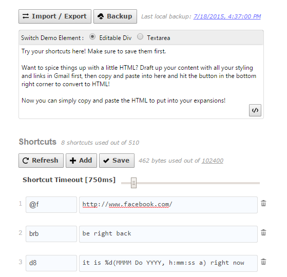 Free Auto Text Expander Extension for Google Chrome