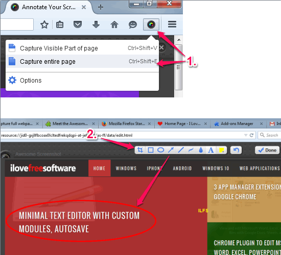 Awesome Screenshot- capture full webpage and annotate