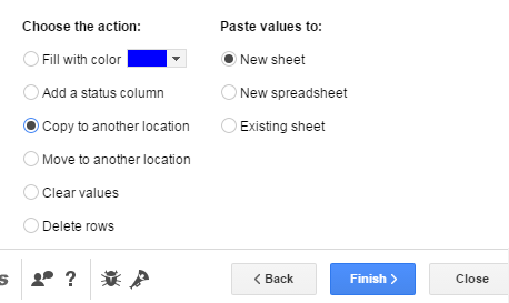 Choose Action to Perform on Duplicates