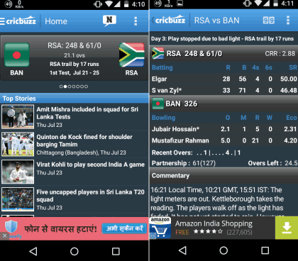 live cricket score app for android free download