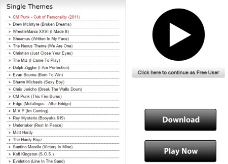 download WWE theme songs
