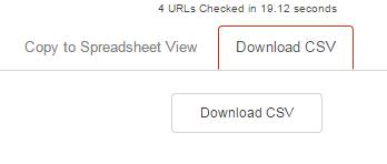 Download as CSV
