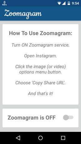 Enable Zoomagram