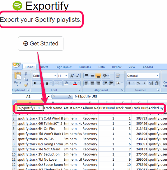 Export all your Spotify playlists to PC as CSV files