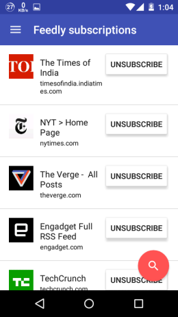 Feedly Subscriptions