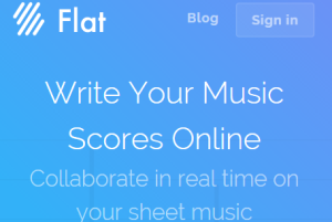 Flat- free online sheet music maker