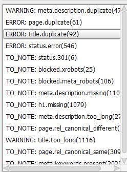 List of Errors