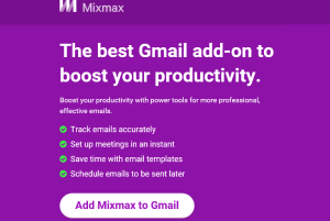 Mixmax- free email tracker, scheduler, and reminder