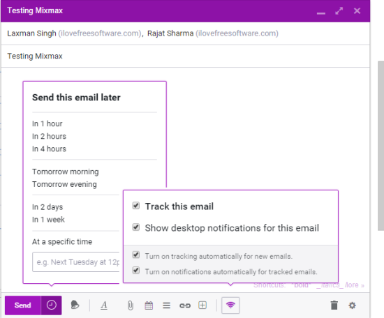 Mixmax- free email tracking and scheduling