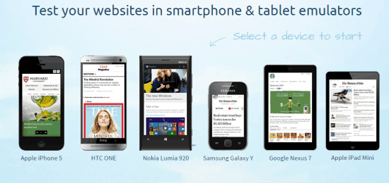 MobileTest List of Devices