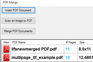 PDF Merge software to combine images and PDF files