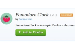 Pomodoro Clock Firefox add-on
