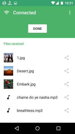 Received Files