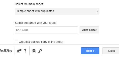 Select First Sheet