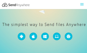 Send Anywhere- send large files to multiple PCs together