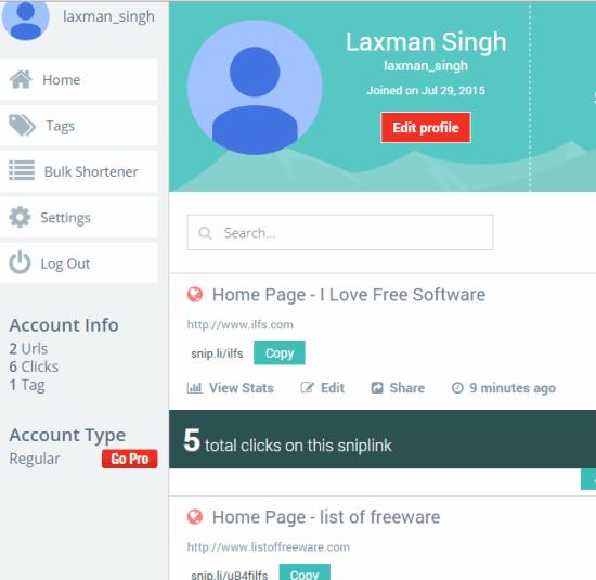 Snipli- online free URL shortner