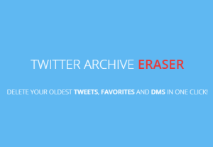 Delete Old Tweets, Favorites, DMs using Your Twitter Archive
