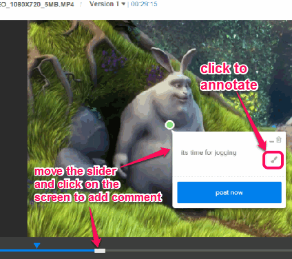 add comments and annotations on video