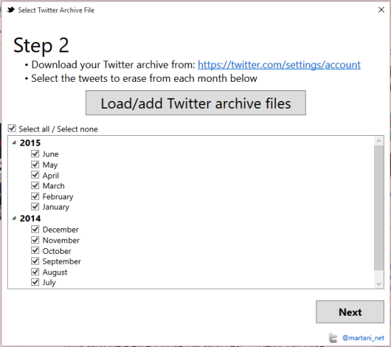 add your Twitter archive