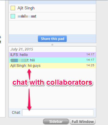 chat with collaborators