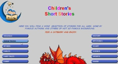 chidlrens short stories