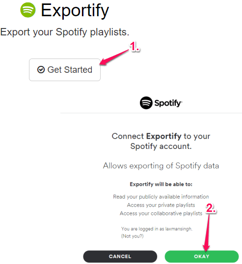 click on Get Started button