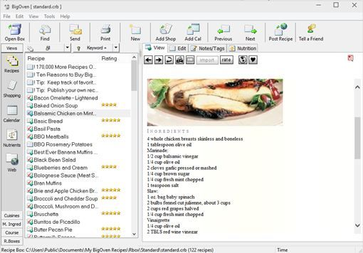 cookbook software windows 10 3