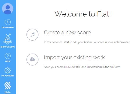 create a new music score