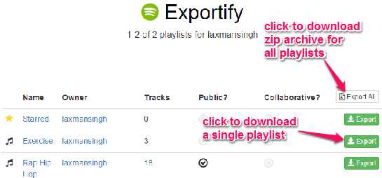 download all or only a single playlist