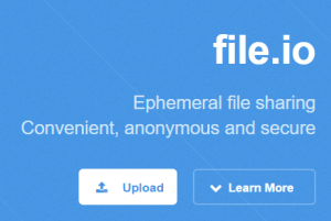 file.io- send large files up to 1 GB for free