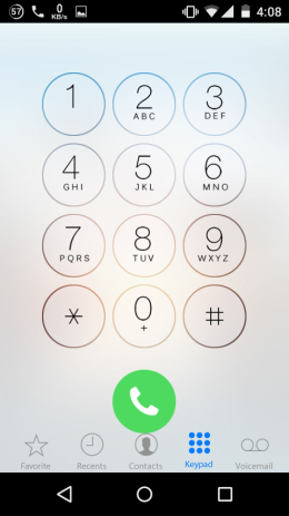 iOS 8 Dialer for Android