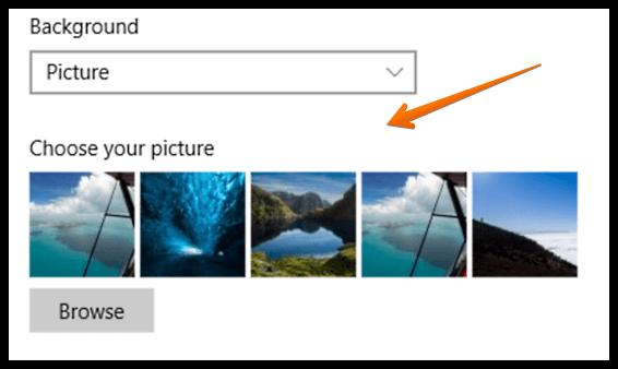 windows 10 choose lock screen background