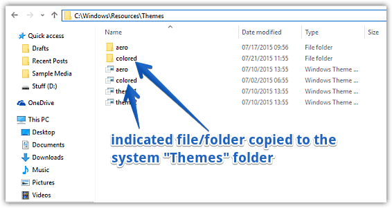 windows 10 copy theme to folder