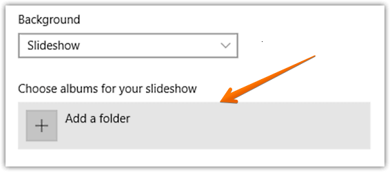 windows 10 play slide show on lock screen