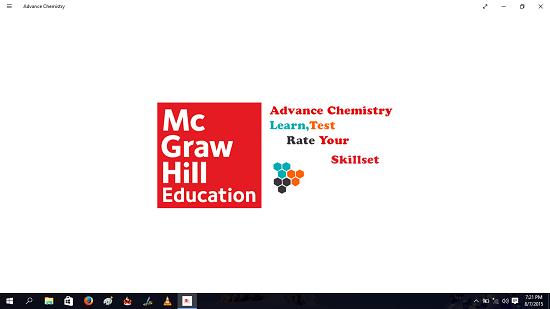 Advance Chemistry Main Screen