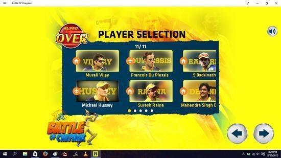 Battle Of Chepauk select player