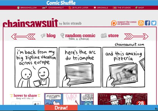 Comic Shuffle- read random comics from 20+ sites